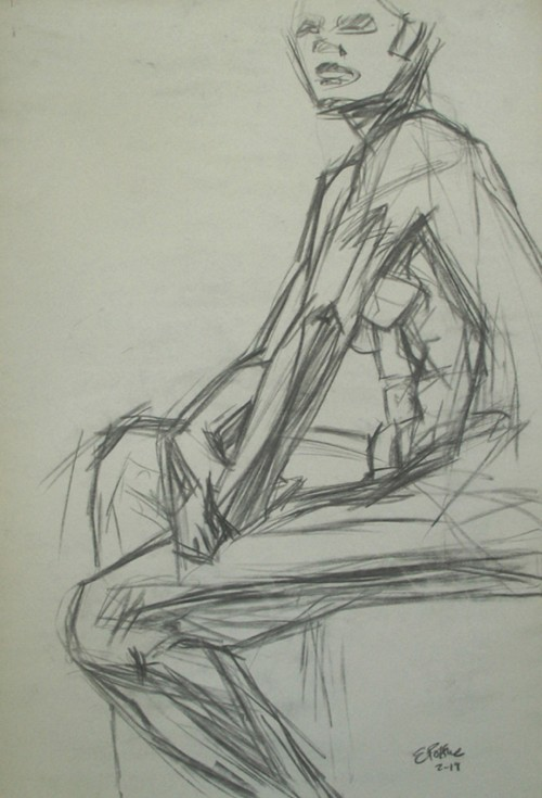 Planar Study of Seated Nude