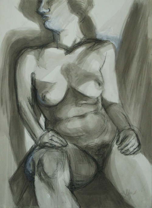 Ink Wash Nude